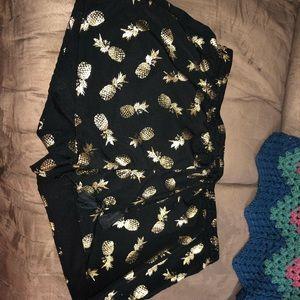 Black pineapple bathing suit cover size L